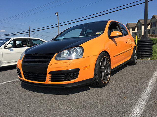 Michelle Coe's Orange Volkswagen GTI Fahrenheit