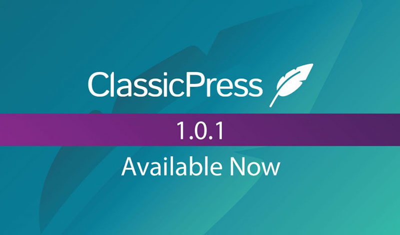 Upgrade your site to ClassicPress 1.0.1 now!