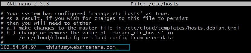 Edit hosts file on Linux