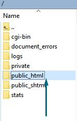 The public_html directory