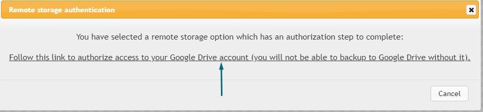 Remote storage authorization