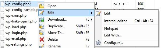 Editing WP Config