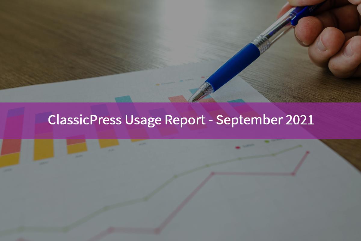 Classicpress Usage Report Sept 2021